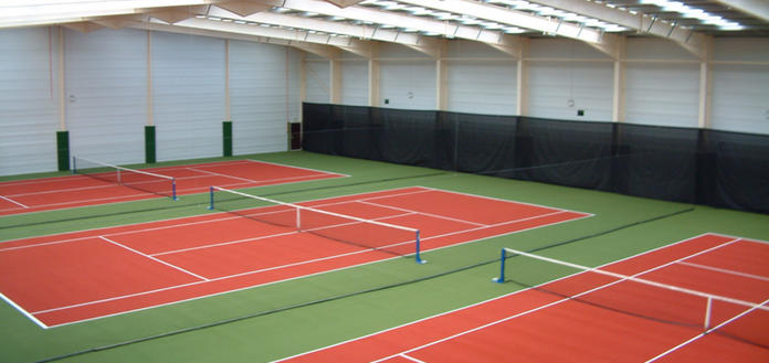Tennis on 8 indoor courts